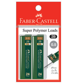 Polymer lead 2B, 0.5mm, blistercard of 2
