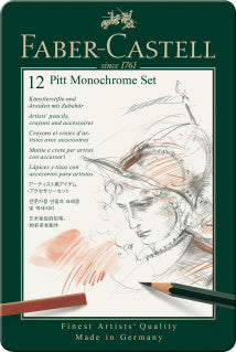 Pitt Monochrome set, tin of 12