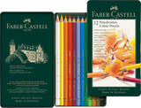 Polychromos colour pencil, tin of 12