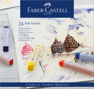 Soft pastels, cardboard wallet of 24