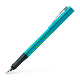 Grip 2010 fountain pen, nib width B, turquoise-light green
