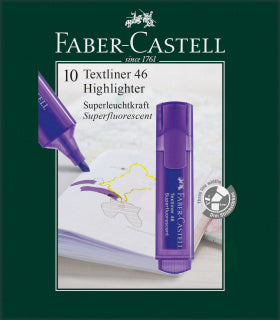 Textliner 46 Superflourescent, violet - Box of 10
