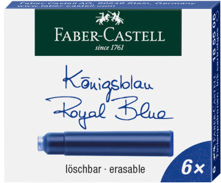 Ink cartridges, standard, 6x blue?ÿerasable