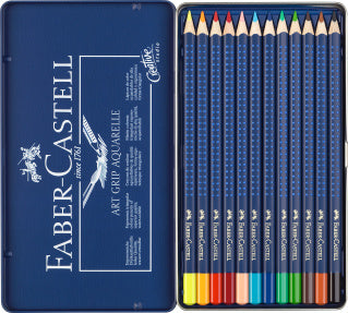 Watercolour pencil Art Grip Aquarelle tin of 12