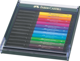 Pitt Artist Pen Brush India ink pen, set of 12, Basic tones