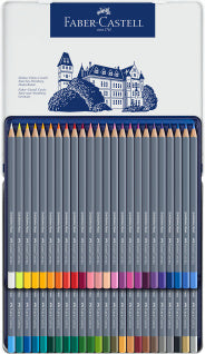Goldfaber Aqua watercolour pencil, tin of 48