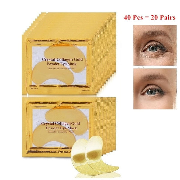 InniCare 40pcs Beauty Gold Crystal Collagen Patches For Eye