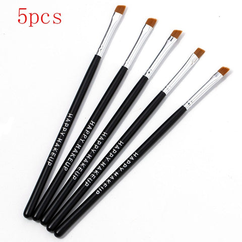 Happy Makeup 5Pcs Black Eyebrow Inclined Flat Angled