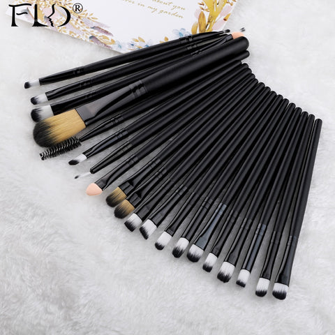 FLD 20 Pieces Makeup Brushes Set Eye Shadow Foundation