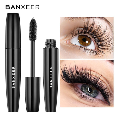 BANXEER 4d Silk Fiber Eyelashes Natural Waterproof Mascara