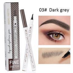 Waterproof Natural Eyebrow Pen Four-claw Eye