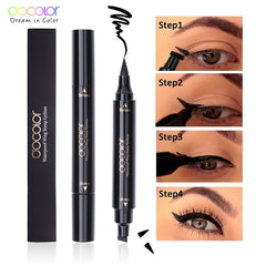 Docolor Black Liquid Eyeliner Stamp Marker Pencil