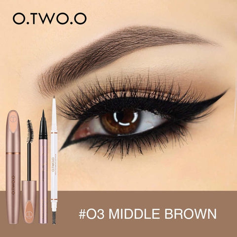 O.TWO.O 3pcs Eyes Makeup Set Ultra Fine 1.5mm Eyebrow