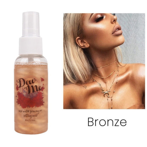 Pearlescent Bronzer Highlighter Liquid Setting Spray