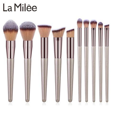La Milee Champagne Makeup Brushes