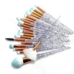 20pcs Diamond Makeup Brush Set Eye Brush