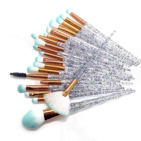 20pcs Diamond Beauty Tools Fan Powder Eyeshadow
