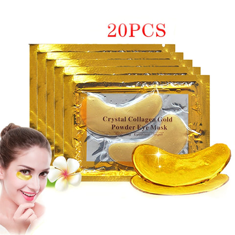 InniCare 20Pcs Crystal Collagen Gold Eye Mask