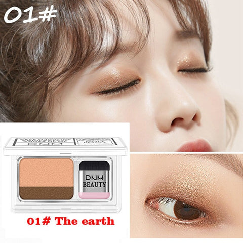Double Color Gradient Lazy Eye Shadow Makeup Palette