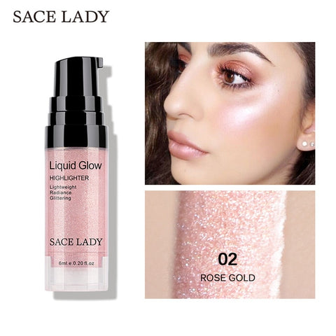 SACE LADY Face Highlighter Cream Liquid Illuminator Makeup