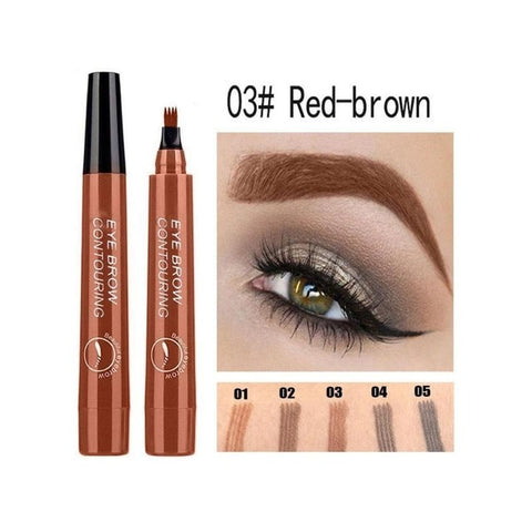 5 Colors 3D Magic Microblading Eyebrow Pencil