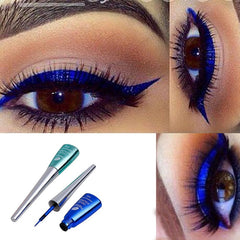 blue waterproof long lasting liquid eyeliner