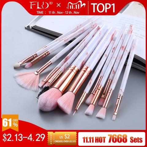 FLD5/15Pcs Makeup Brushes Tool Set Cosmetic Powder
