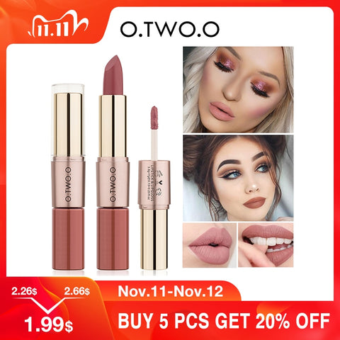 O.TWO.O 12 Colors Lips Makeup Lipstick  Lip Gloss