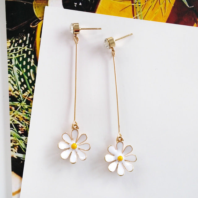Beautiful Sunflower Earrings - HiMayura