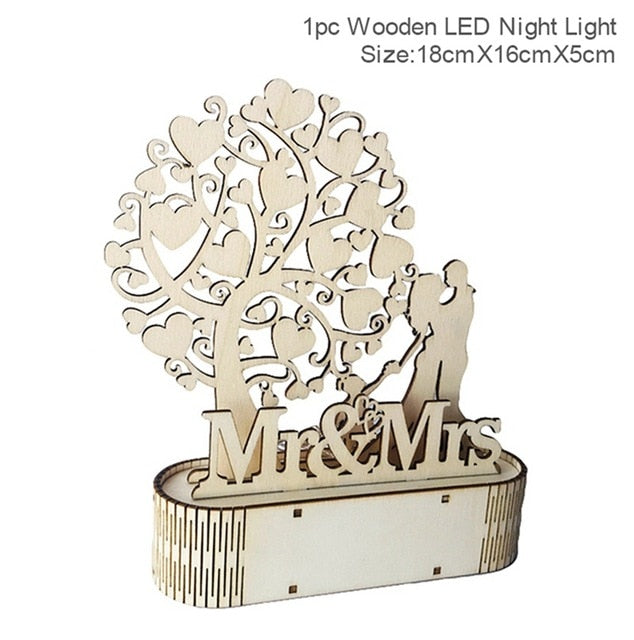 Mr&Mrs Wooden Ornaments - HiMayura