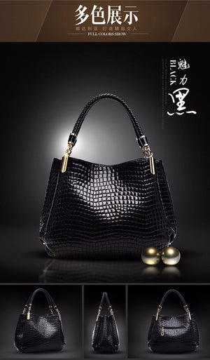 Sac Style Crocodile Look Handbag - Thamaras