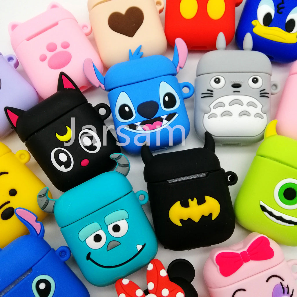 Cute Cartoon Wireless Earphone Case For Apple AirPods 2 Silicone - Thamaras