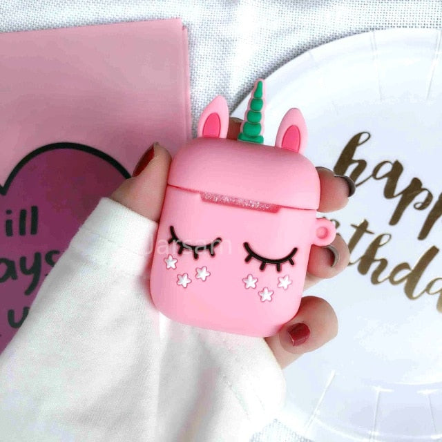 Cute Cartoon Wireless Earphone Case For Apple AirPods 2 Silicone - HiMayura