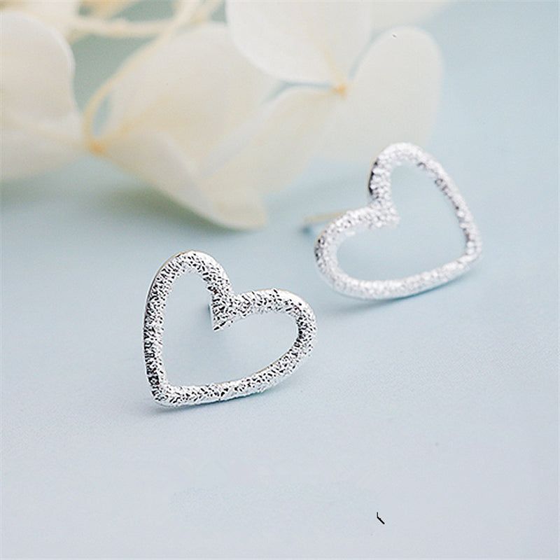 Sterling-silver Heart Studs - Thamaras