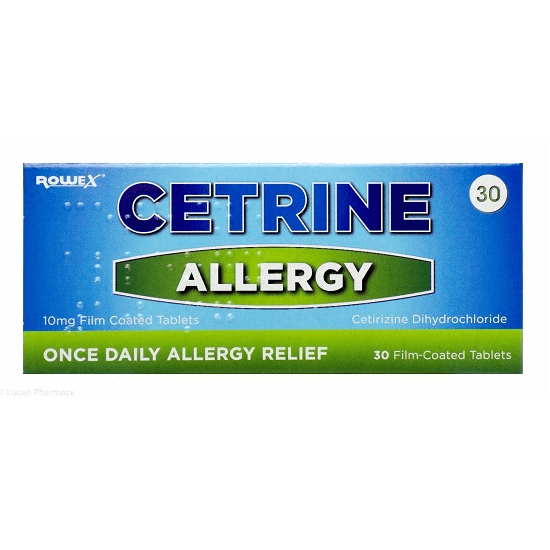 Cetrine Allergy 10mg  30 Tablets