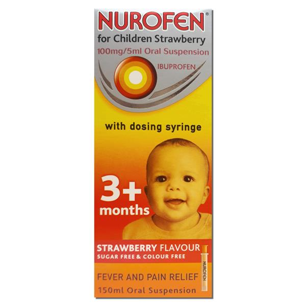 Nurofen Children Strawberry with Syringe 150ML