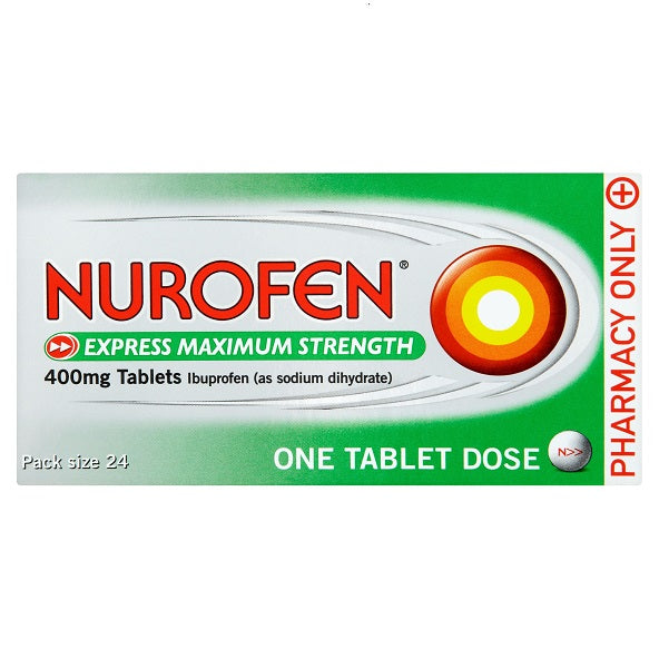 Nurofen Express 400mg Maximum Strength tablets 24s