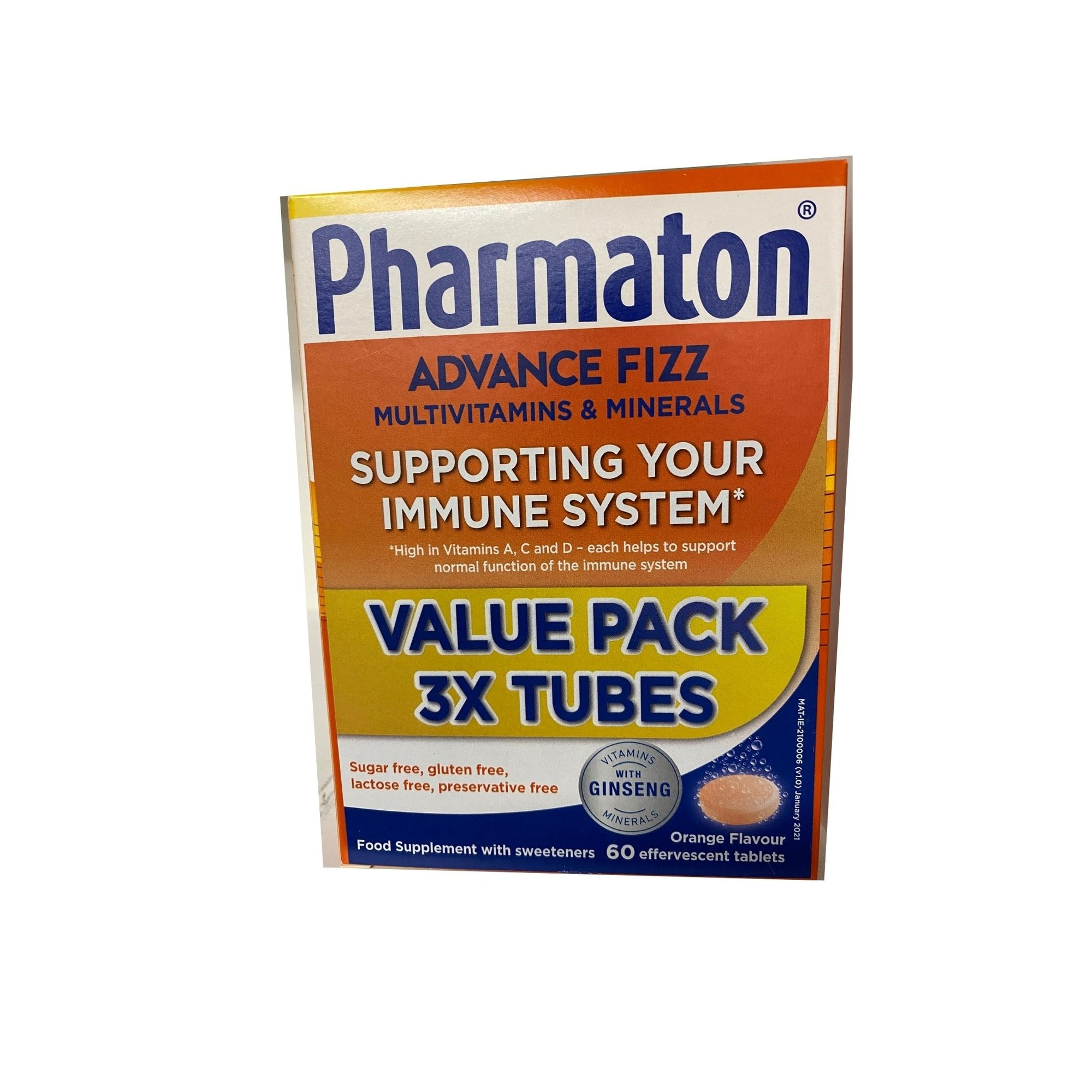 Pharmaton Advance Fizz - Value Pack x 3 tubes