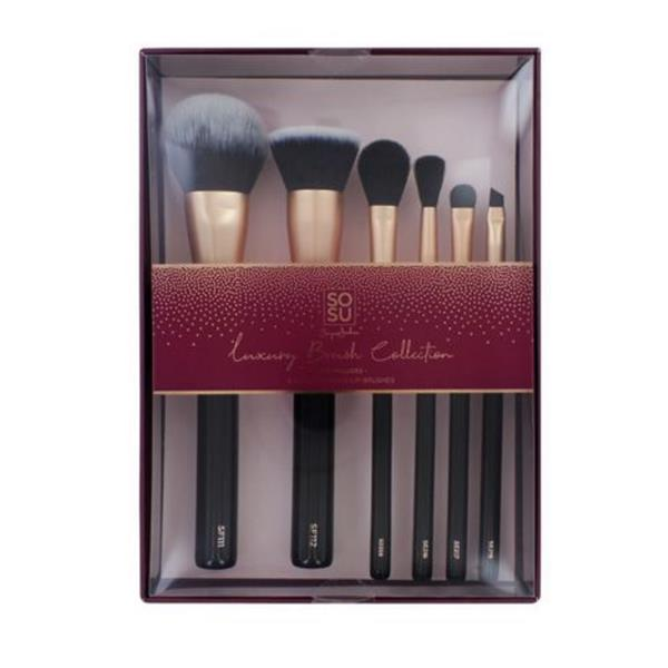 SOSU BY SJ LUXURY BRUSH COLLECTION – 6 PIECE   (Delivery only)