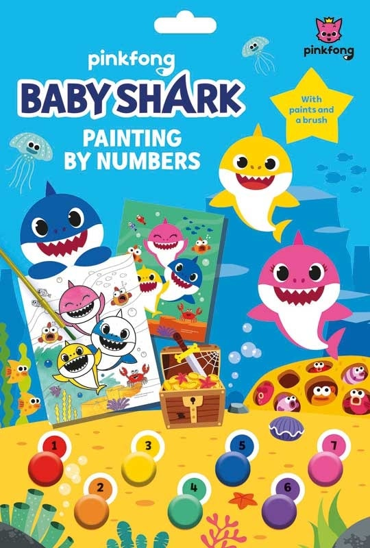 Pinkfong Baby Shark Painting By Numbers