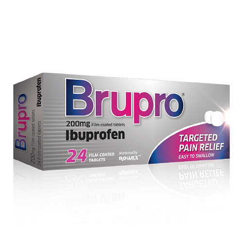 Brupro 200mg Ibuprofen 24 tablets