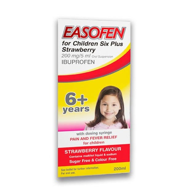 Easofen for Children 6 Plus Strawberry 200ml