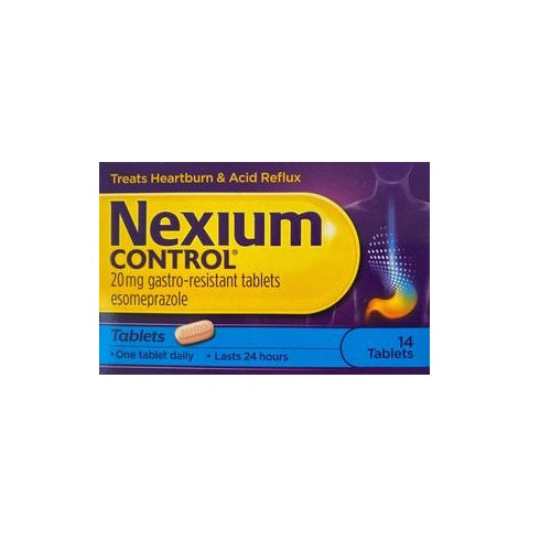 Nexium Control 20mg Gastro Resistant Tablets 14 pack