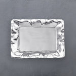 "Organic Pearl Rectangular Engraved Tray with ""Friends Till The End"""