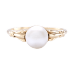 14K Yellow Gold Culture Pearl Ring