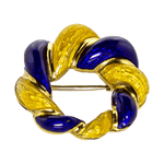 18K Yellow Gold Italian Wreath Pin