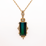 18K Yellow Gold Andrew Sarosi Bi-Color Tourmaline Pendant