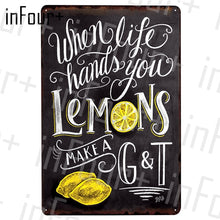 Load image into Gallery viewer, Vintage Fresh Lemon Metal Plate Tin Sign