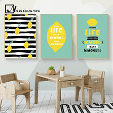 Load image into Gallery viewer, Fun Lemon Wall Art Canvas