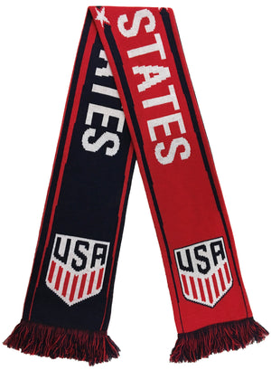 USA Red White and Blue Scarf - Soccer 90
